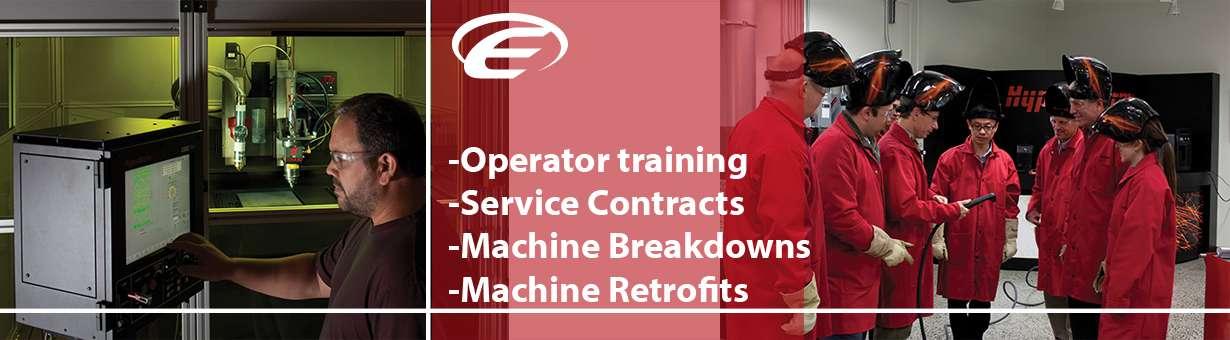 Pressbrake service machinery ireland /cnc plasma service repair