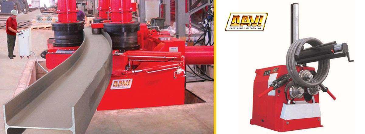 Section rolls machines manufactured by Davi , the worlds no.1 supplier of metalwork and engineering Section Rolls