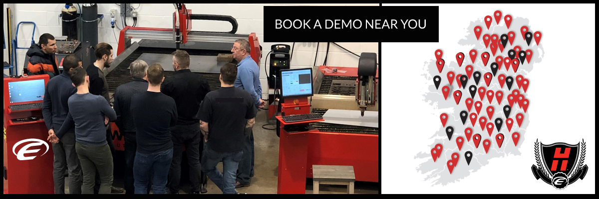 Hypertherm - Demo Day - Engineering Machinery Northern Ireland - CNC Plasma Systems from ENGmach - Northern Ireland plasma cutting machinery - UK United Kingdom - ask a question ?