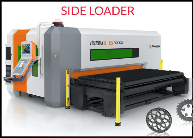 Ermaksan Side Loader - Fiberlaser cutting machinery for metal cutting - Laser Stainless steel - LAser cut Mild Steel - Laser cutting Ali